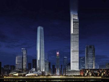 Guangzhou CTF Finnace Centre - tòa nhà có thang máy chạy nhanh thứ 2 thế giới